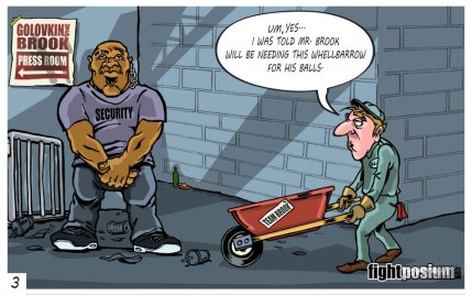 Golovkin-Brook Press Conference Cartoon