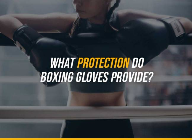 What protection do boxing gloves provide?