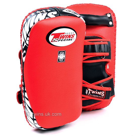 KPL-12 Twins Deluxe Curved Leather Kick Pads