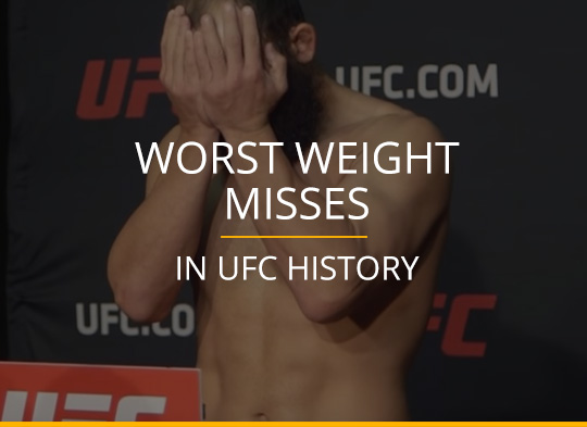 Worst Weight Misses In UFC History