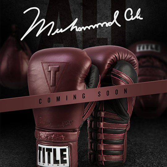 Coming Soon: Title Boxing Muhammad Ali Boxing Gloves