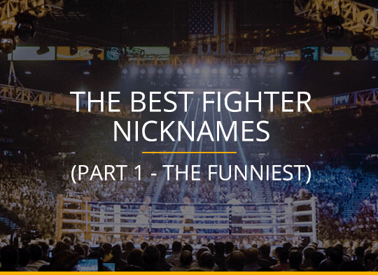 The Best Fighter Nicknames (Part 1 - The Funniest)