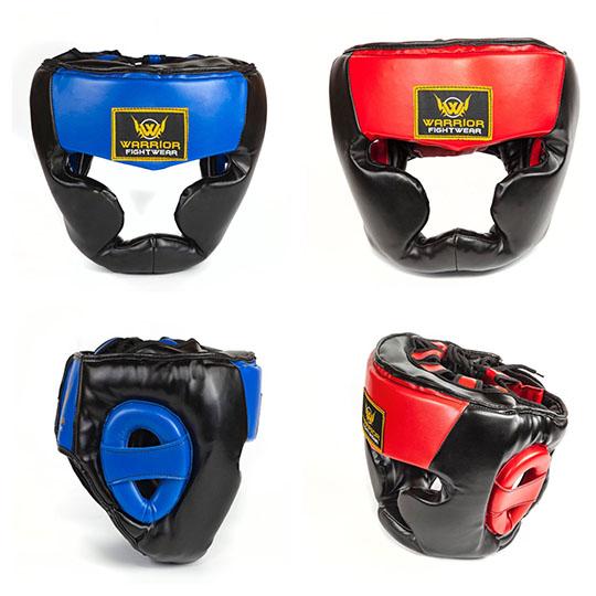 Warrior Fight Wear Pro Boxing Head Guard Red