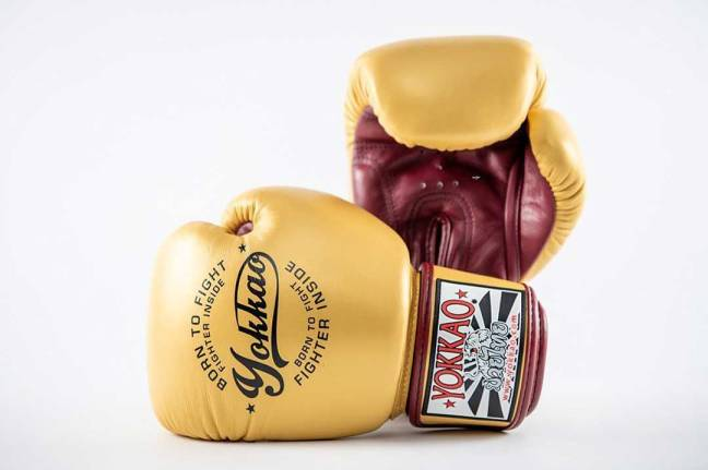 Yokkao Vintage Gold Muay Thai Boxing Gloves