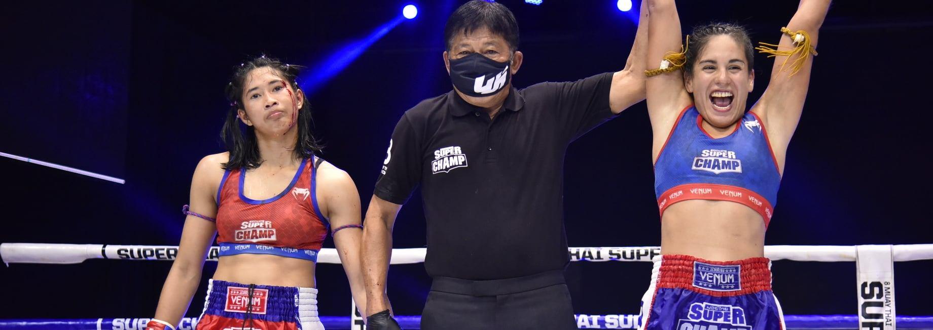 Daniela Lopez - Female Muay Thai - Muay Hardcore, Super Champ