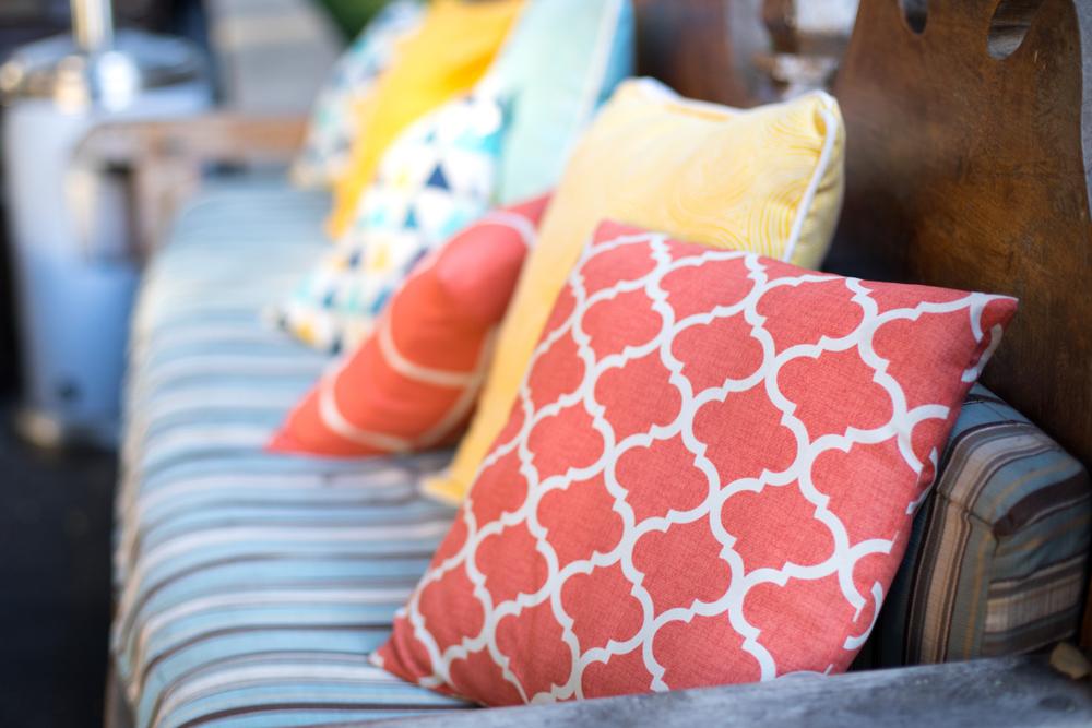 fig leaf cushion covers