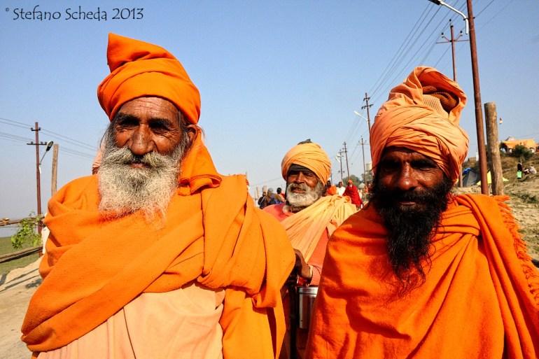 Hindu pilgrims at Kumbh Mela, Allahabad, India