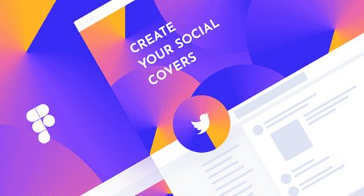 Social profile template for Figma