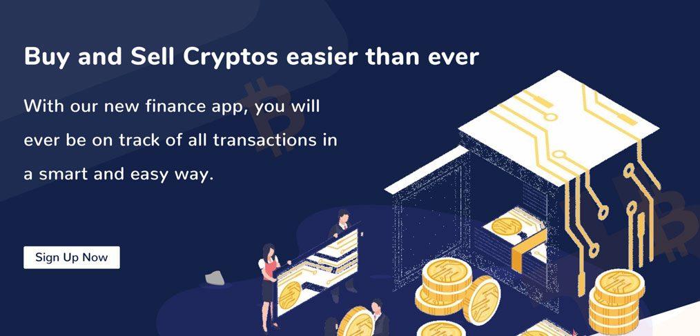 Crypto landing page template