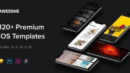 Awesome – iOS mobile UI kit (Premium)