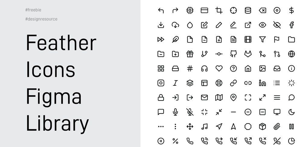 Feather icons - Free Figma icon set