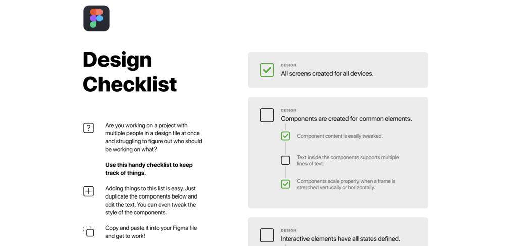 Figma Design Checklist