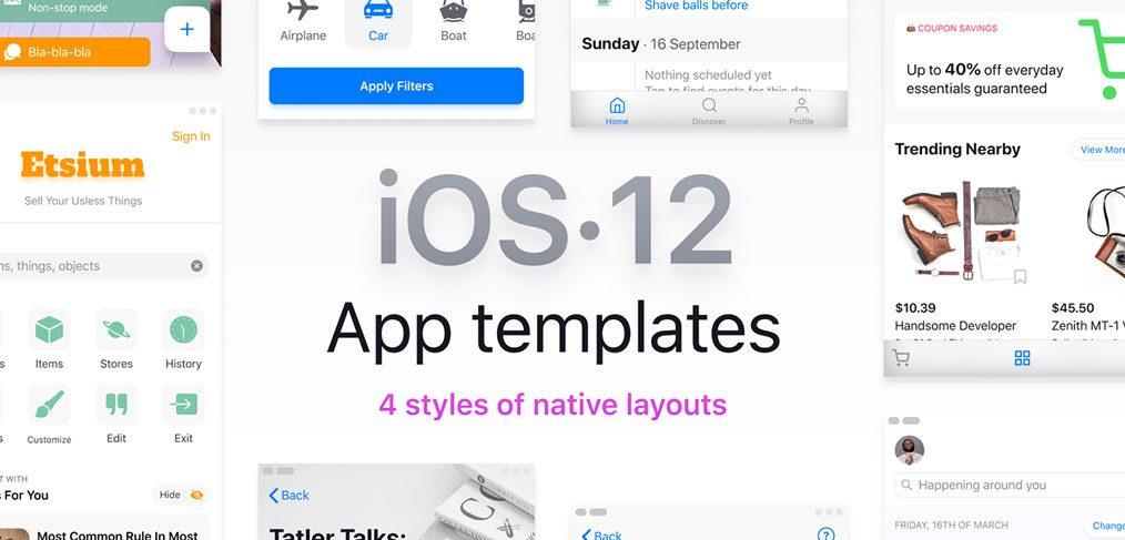 iOS 12 Figma Templates Library