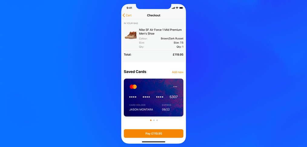Credit Card checkout screens