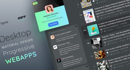 Desktop UI Kit, components and layouts