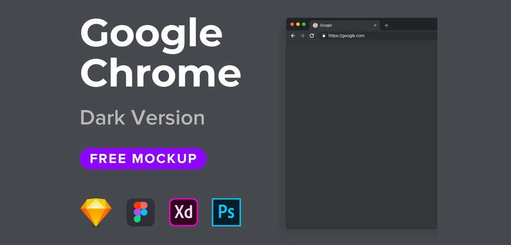 Google Chrome Dark Mockup