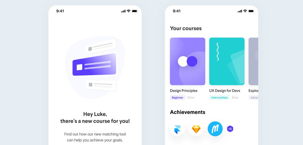 Learning app free Figma template