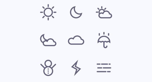 Weather icons for Figma