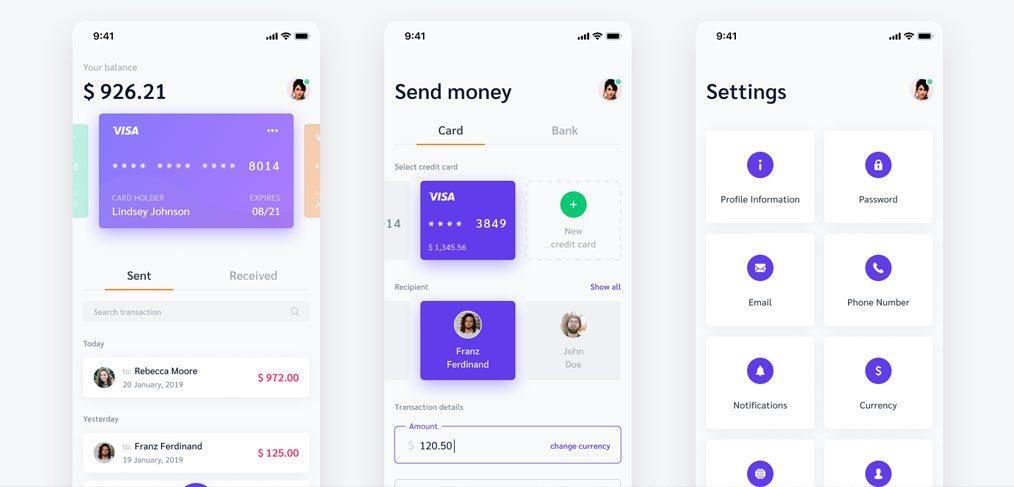Payment App UI Figma Freebie