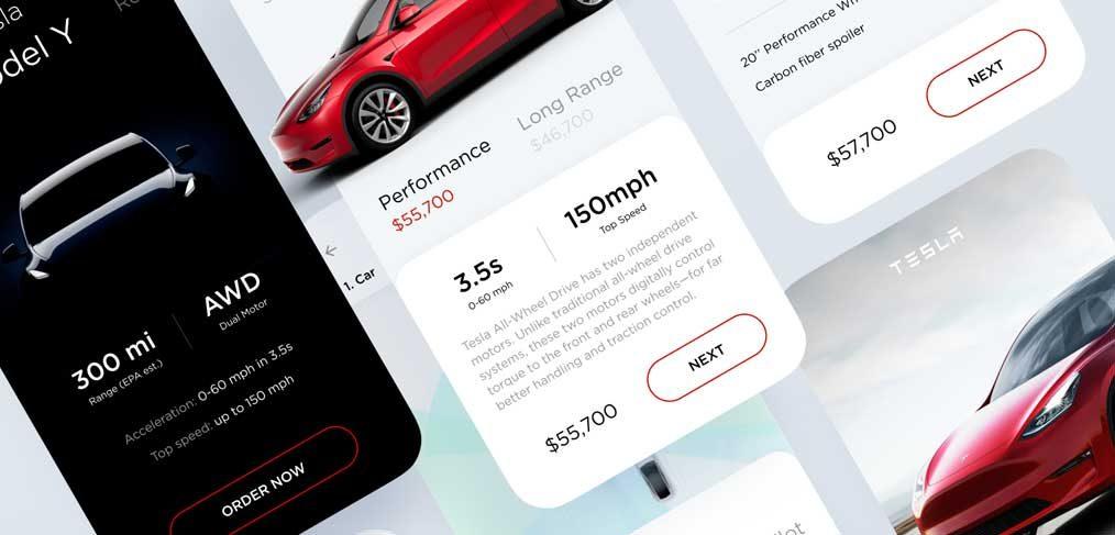 Tesla Configuration Figma template