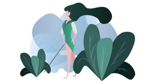 Forest Protector - Girl Illustration