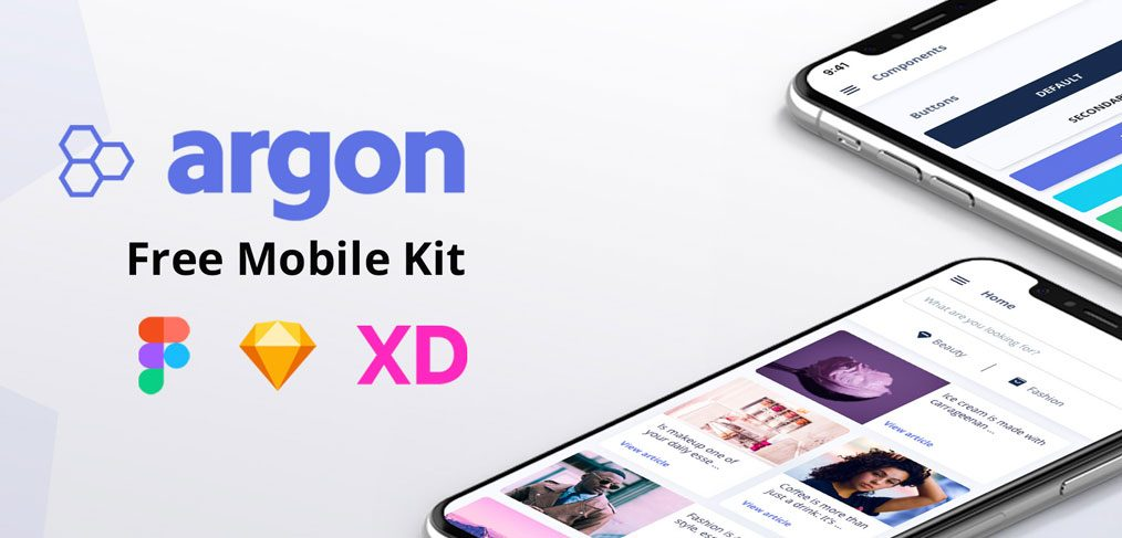 Argon - Free Figma mobile UI kit