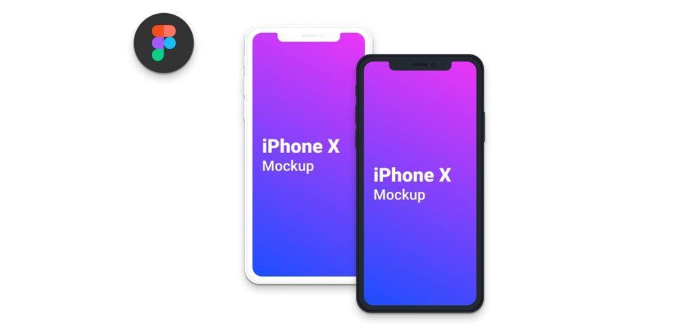 Clean iPhone X Figma mockups