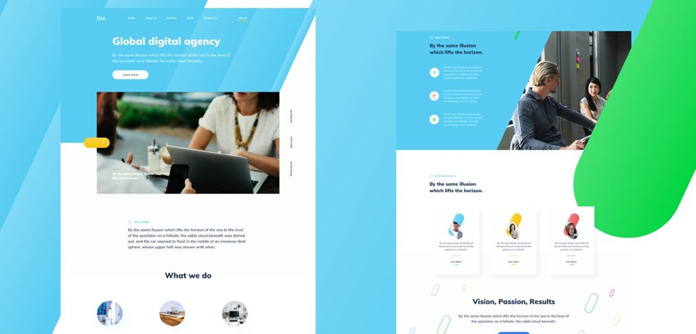 Figma agency homepage template