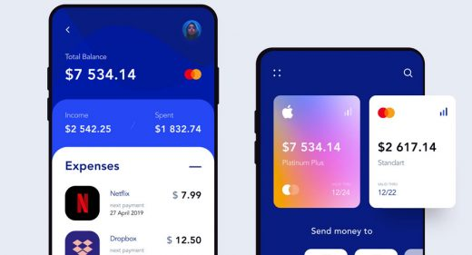 Banking app Figma mobile template