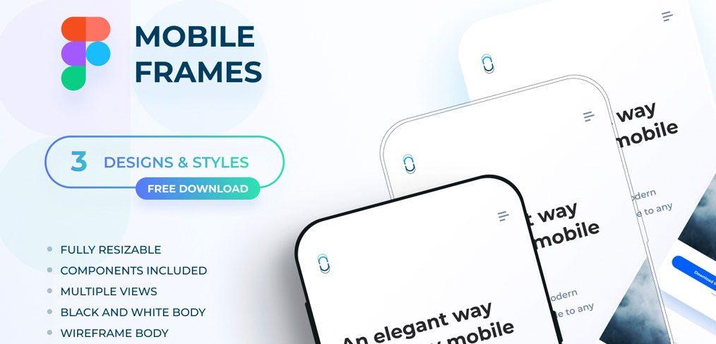 Free Figma flat mobile mockups