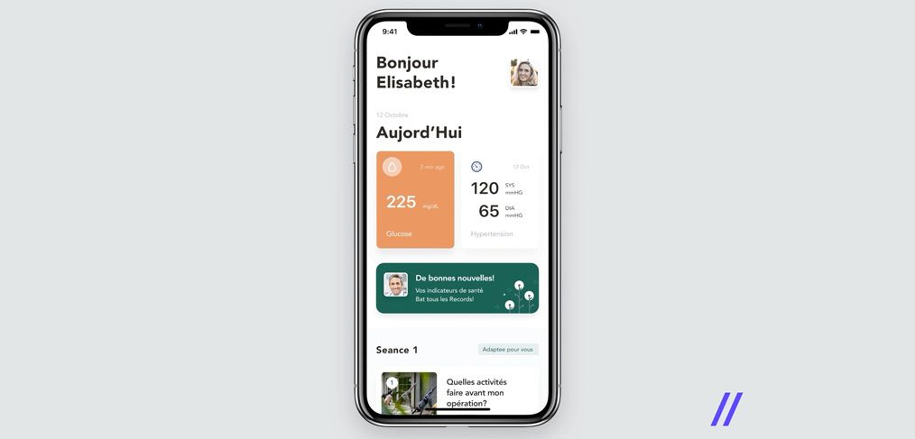 Patients healthcare Figma app template