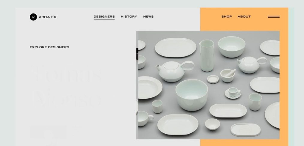 Porcelain website template for Figma