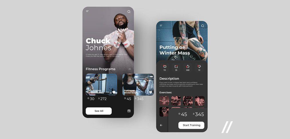 Figma Fitness app template