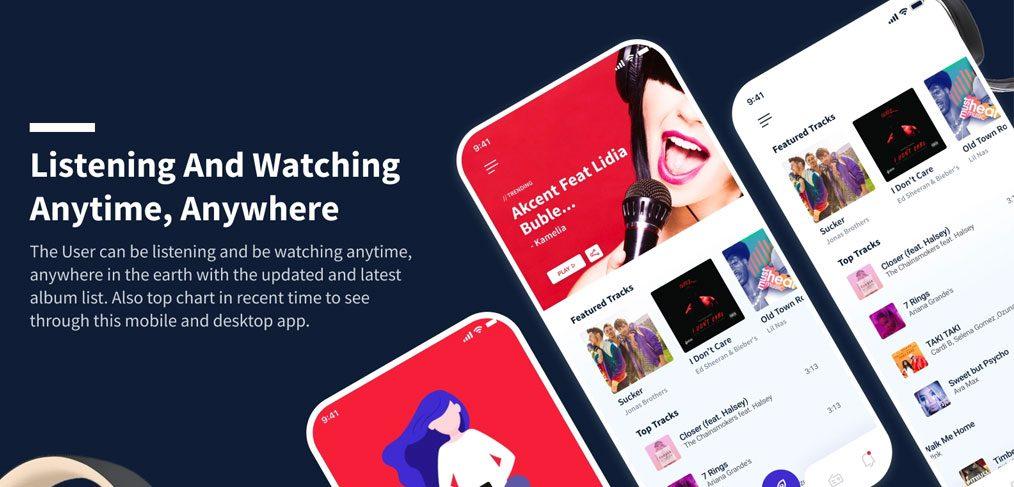 Figma music app template