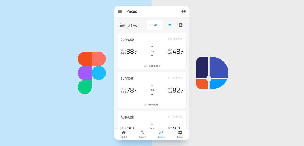 Financial app screen freebie