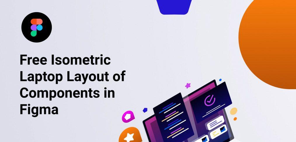Isometric laptop Figma illustration