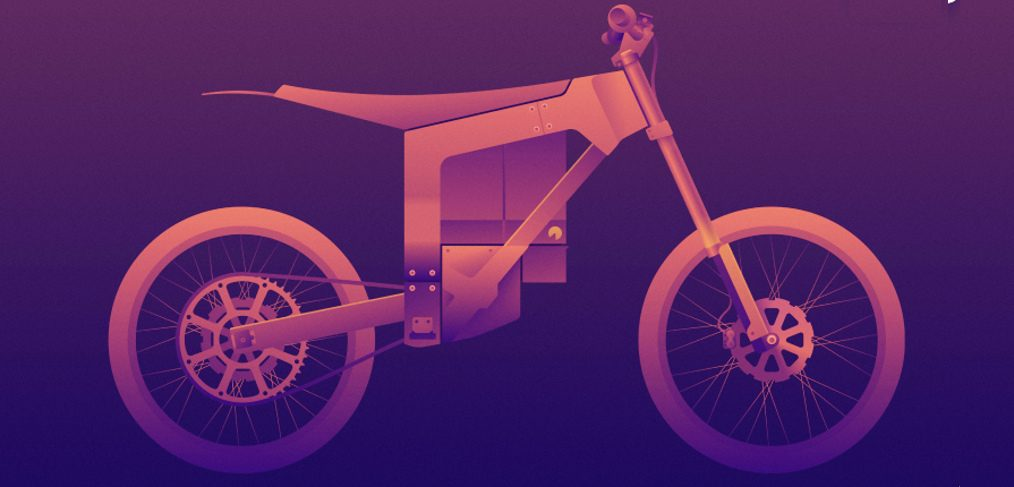Dirt bike Figma illustration