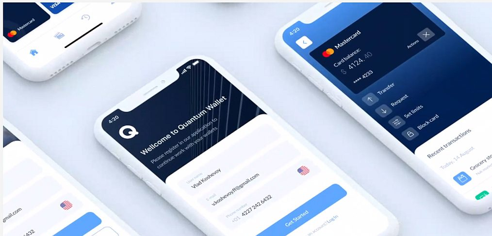 Wallet app Figma mobile template