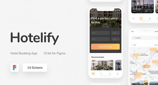 Hotelify - Free iOS Figma UI kit