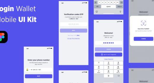 Login wallet Figma UI kit