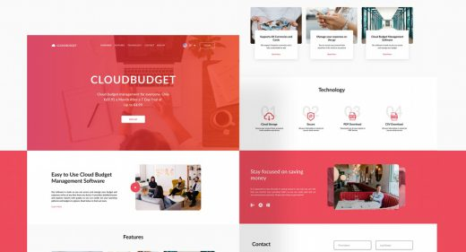 Business landing page Figma template
