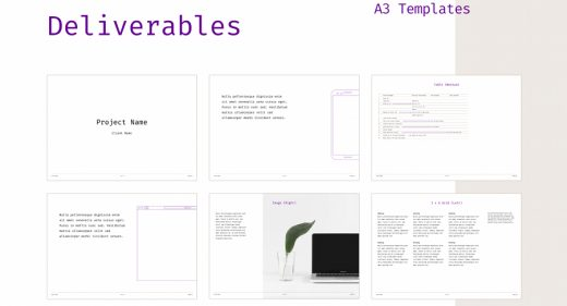Figma deliverables template