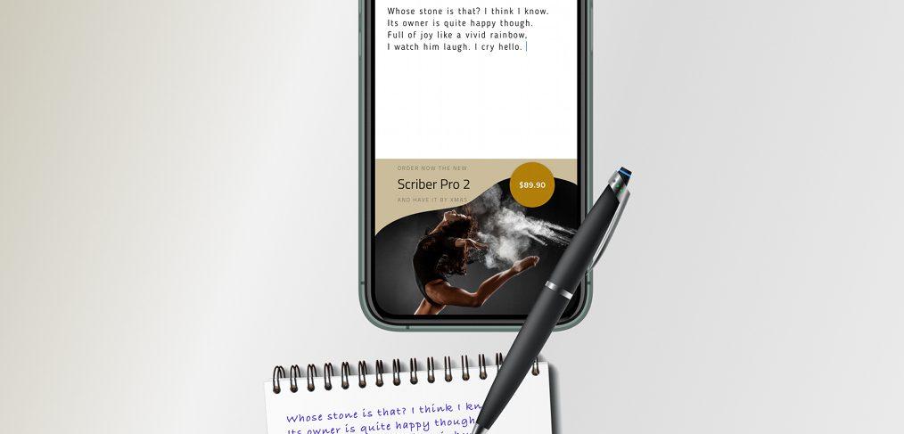 Smart scribe pen Figma freebie