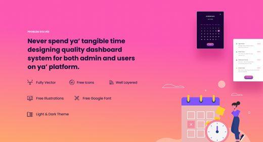 Figma admin dashboard free template