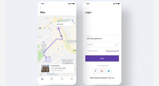 Free Figma travel app template