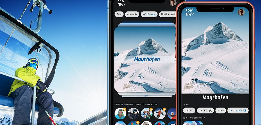 Skiing app mobile template