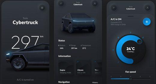 Tesla smart app Figma concept