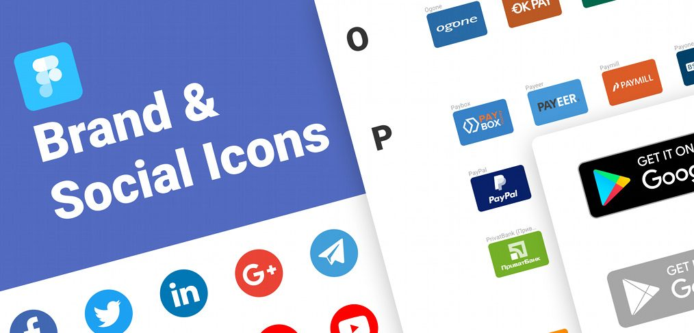 Brands and social icon for Figma