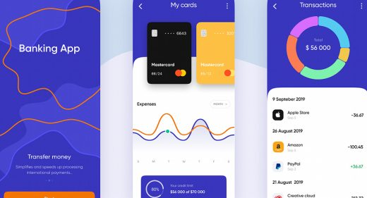 Figma mobile banking app template