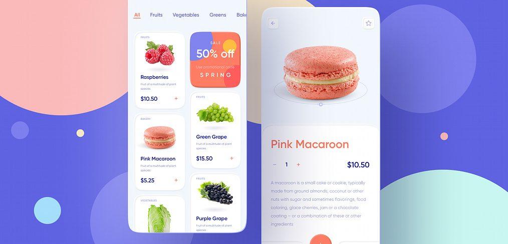 Foodstuffs Figma app template